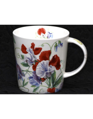 Sweet Peas Fine Bone China Mug