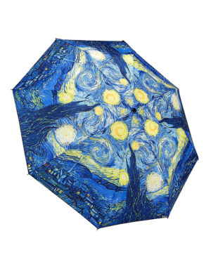 Galleria Auto Folding Umbrella –  Van Gogh Starry Night