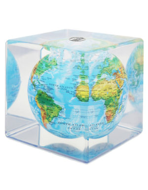 Relief Map Blue MOVA Globe Cube