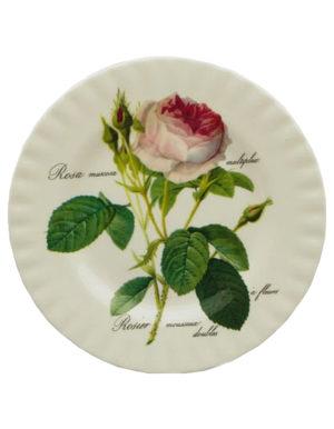 Roy Kirkham Redoute Rose Dessert Plate