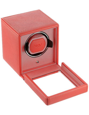 WOLF 461142 Cub Single Watch Winder with Cover, Coral