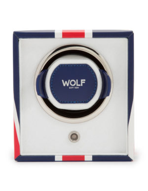 WOLF 462404 Cub Single Watch Winder with Cover, UK Flag