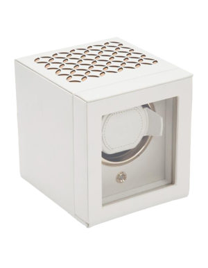 WOLF 301853 Cub Single Watch Winder with Cover, Cream