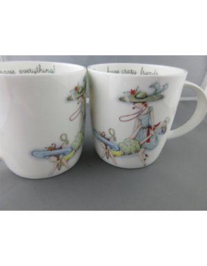 Have Crazy Friends, Fine Bone China Mugs, Roy Kirkham