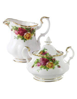 Old Country Roses – Sugar Bowl and Creamer Set
