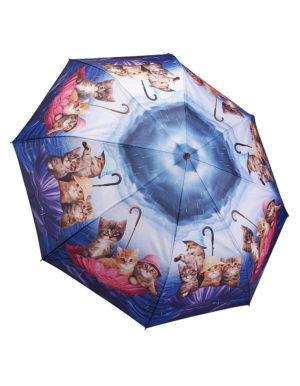 Galleria Auto Folding Umbrella – Kittens Ahoy