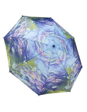 Galleria Auto Folding Umbrella – Monet Water Lilies
