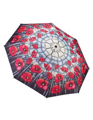 Galleria Auto Folding Umbrella – Poppies