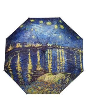 Galleria Auto Folding Umbrella –  Van Gogh Over the Rhone