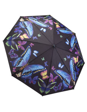 Galleria Auto Folding Umbrella – Moonlight Butterfly
