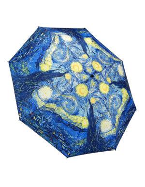 Galleria Auto Folding Umbrella –  Van Gogh Starry Night