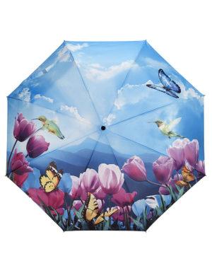 Galleria Auto Folding Umbrella –  Tulips Sonata