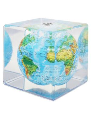 Relief Map Blue MOVA Globe Cube